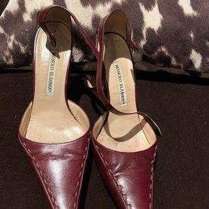 Manolo Blahnik maroon heels